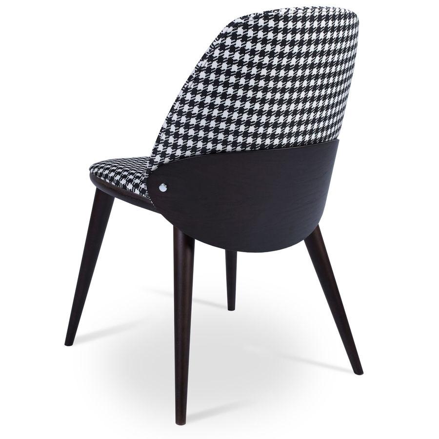 aston dining chair houndstooth fabric plywood oak veneer wenge finish back beech wood wenge finish legs 1 2jpg
