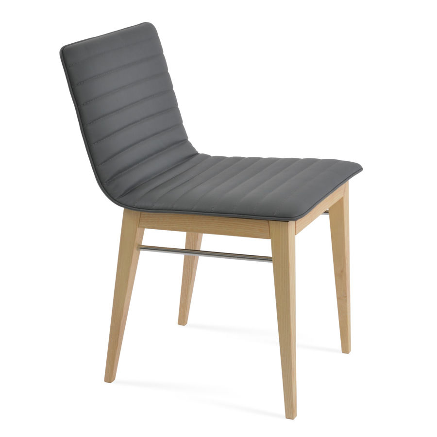 corona wood dining natural ash full upholstery eco leather grey jpg