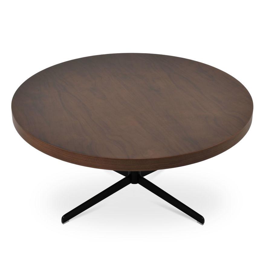 diana coffe table tango plus top walnut veneer black paint finsh 1jpg