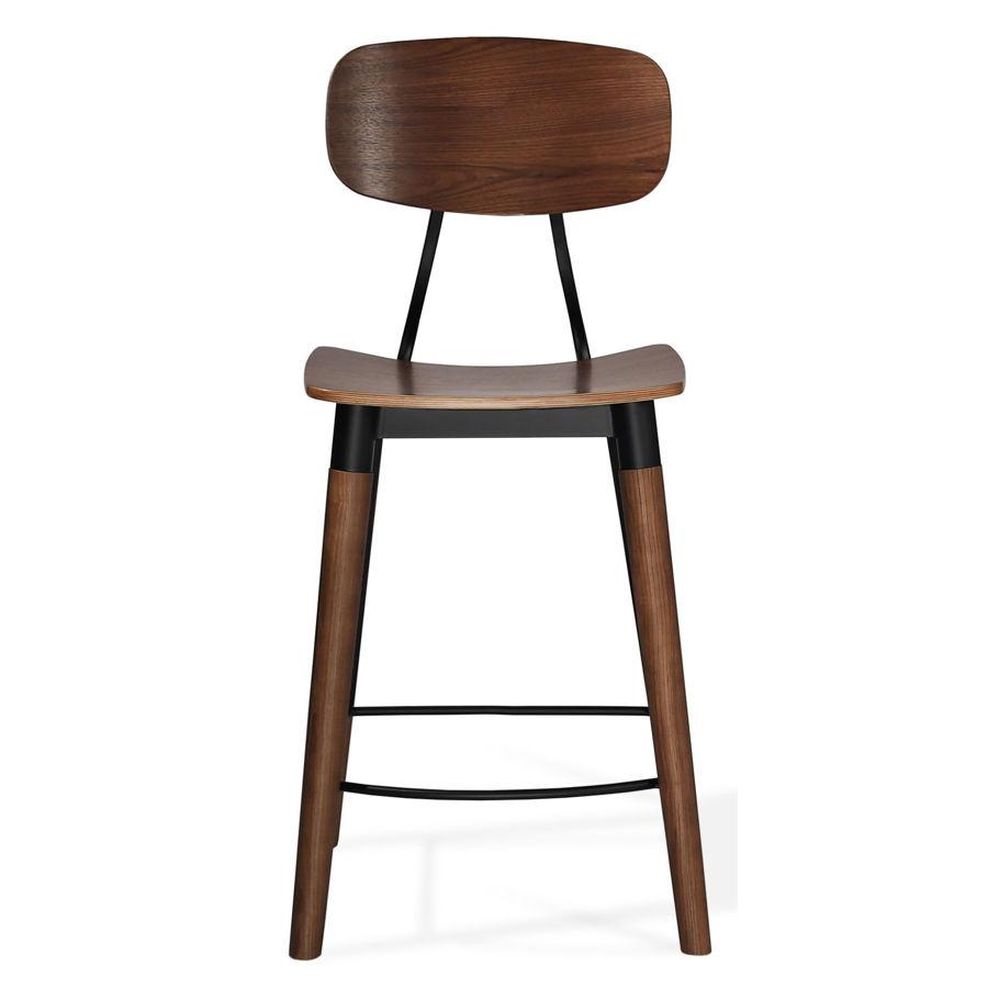 esedra counter plywood walnut veneer seat solid ash walnut finish legs matt black frame 3jpg