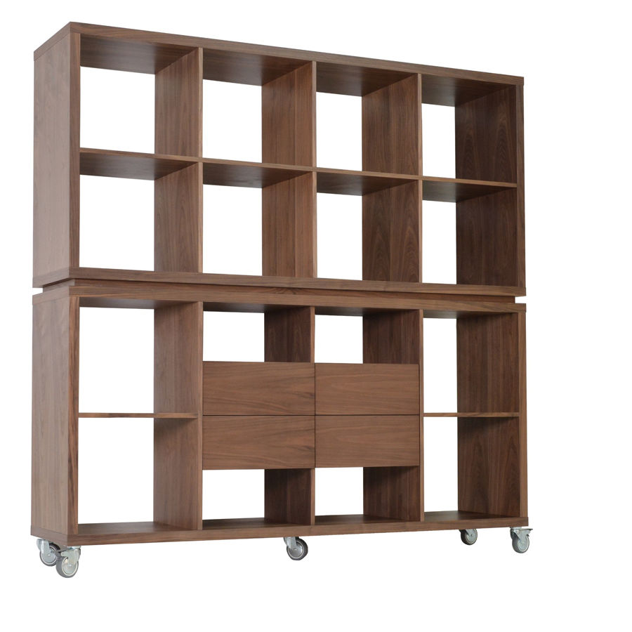 malta bookcase with drawers walnut png jpg