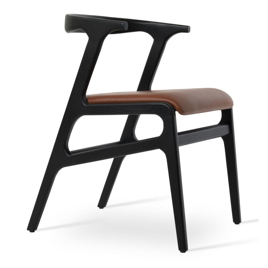 morelato chair solid ash wood black finish seat ppm s hazelnut 502 33 7jpg