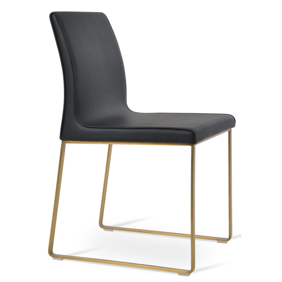 polo dining seat ppm black 2001 12 sled gold brass basejpg