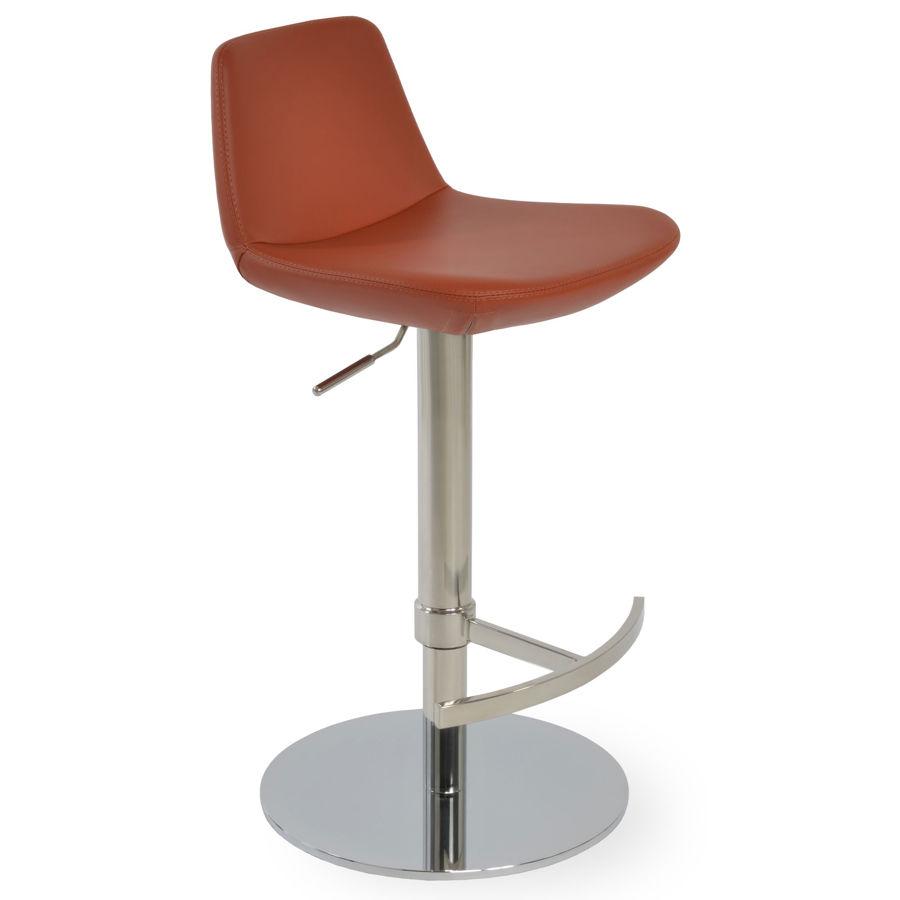 pera bar seat ppm s brick 502 34 t footrest piston polished s steel round base1jpg