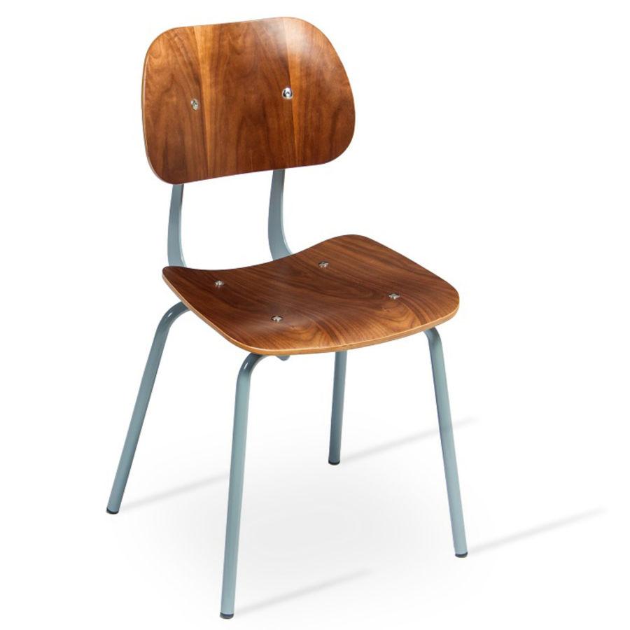 saba dining chair 2 warm grey painted framewalnut veneerjpg