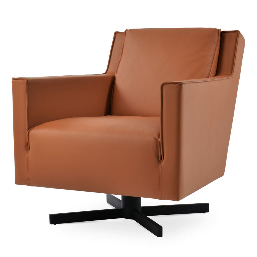 washington arm chair swivel gleather 09 221 caramel 4jpg