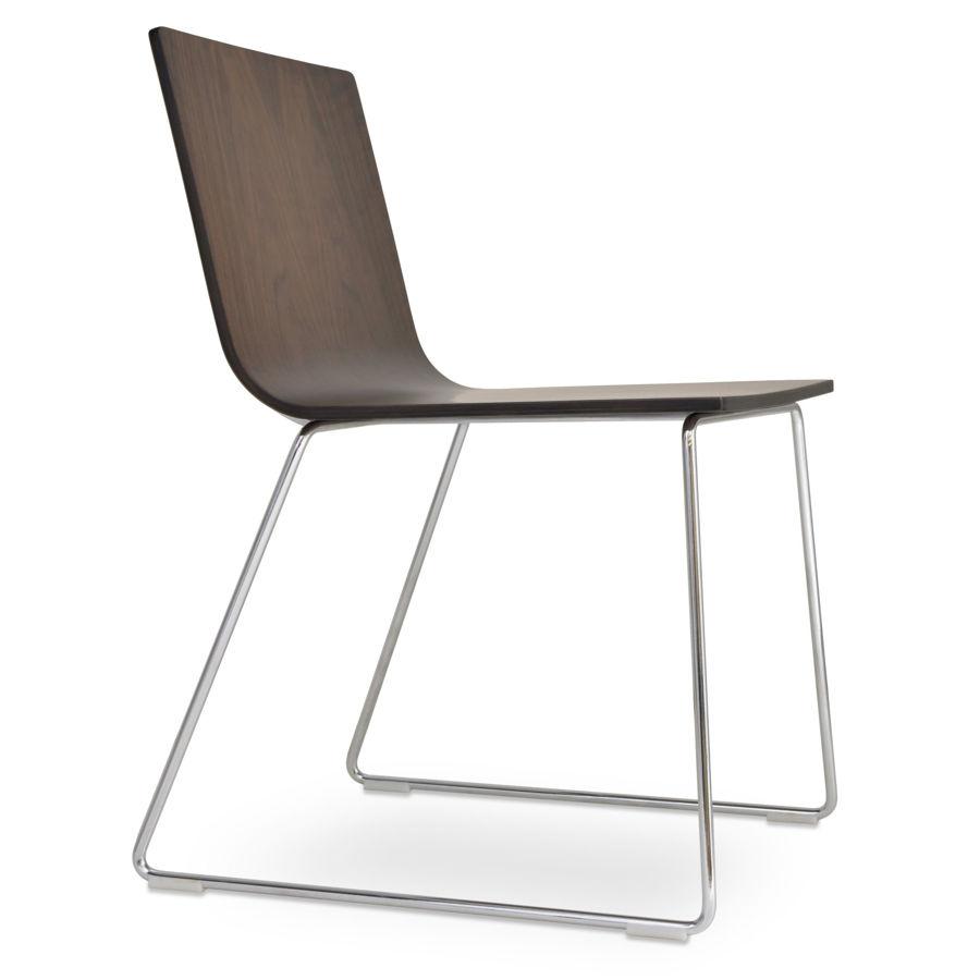 corona dining handle back wire chair plywood shell american walnut veneer 3jpg