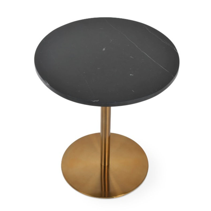 Picture of Ares End Table Black Marble Gold