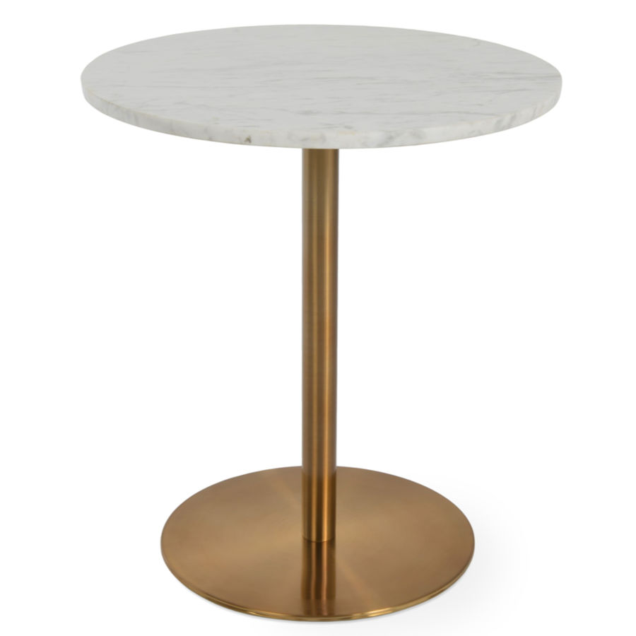 Picture of Ares End Table White Marble Gold