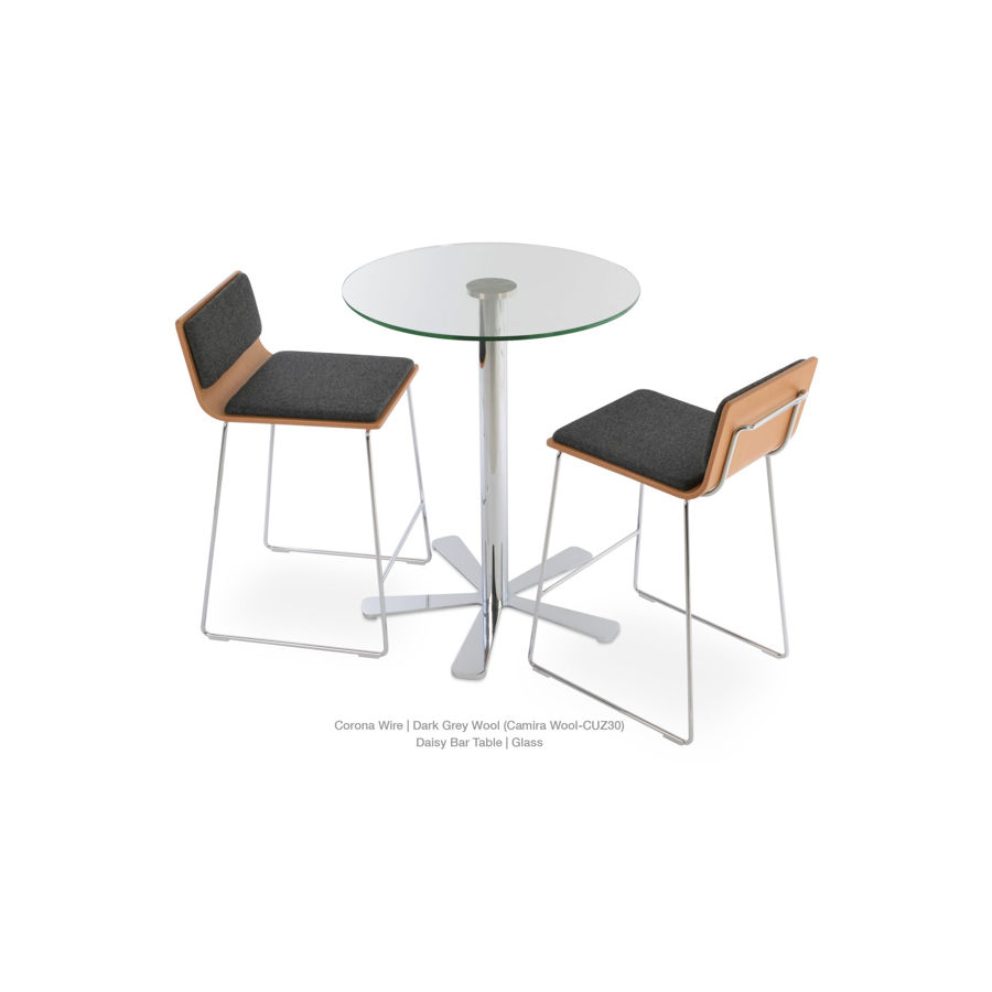 Picture of Daisy 5 Star Glass Bar Table