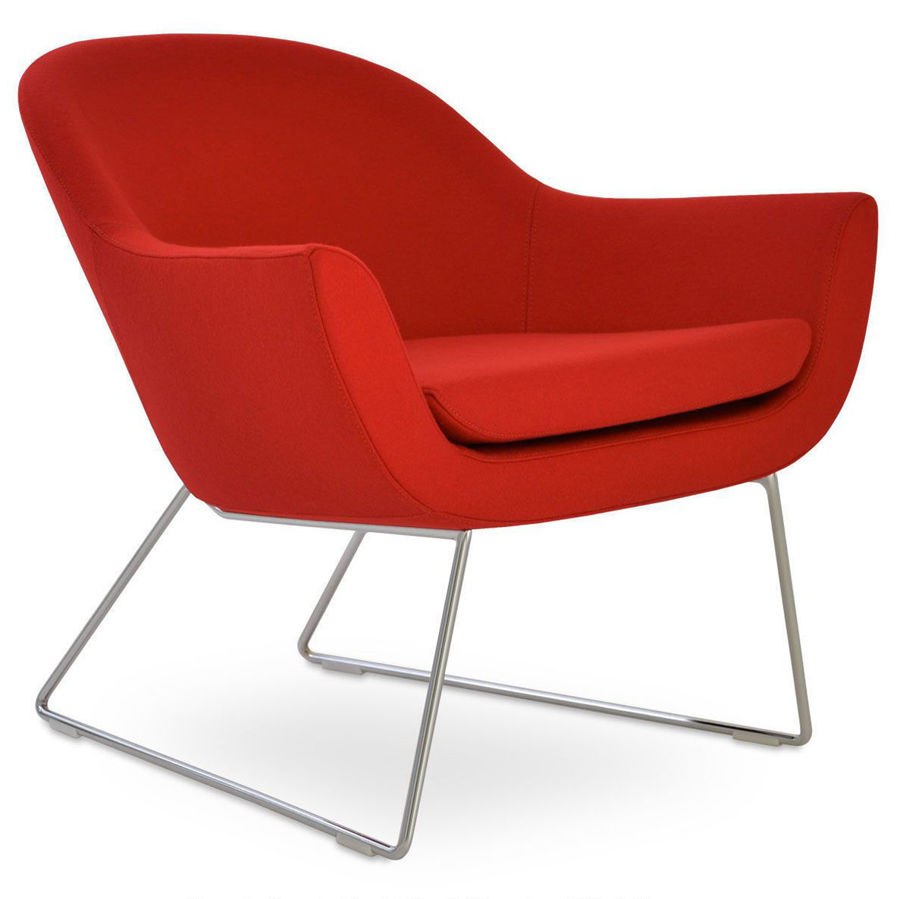 Picture of Madison Armchair Wire Sled Base