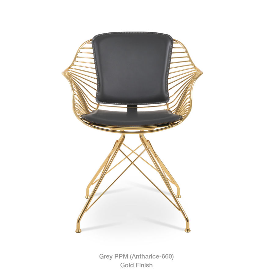 Picture of Zebra  Arm Chair  Gold Polished